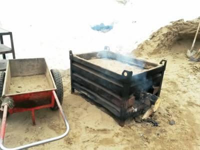 Простые сушилки для песка печь-ящик